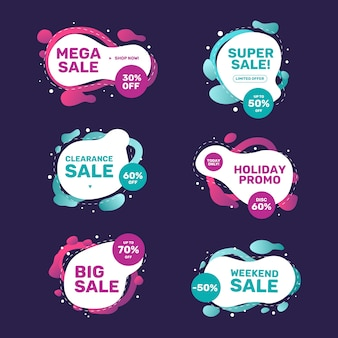 Colorful sales campaign with banner collection