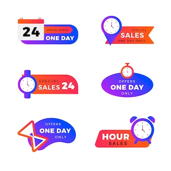 Colorful sales countdown banner collection