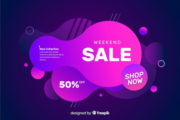 Colorful sales fluid effect background