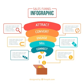 Colorful sales infographic template