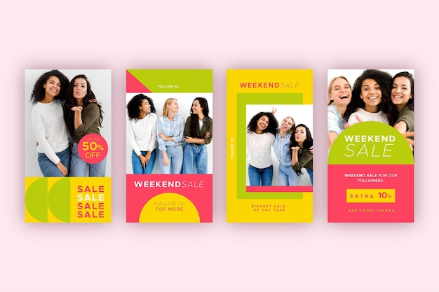 Colorful sales instagram stories