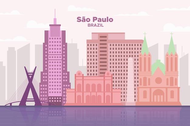 Colorato skyline di sao paulo