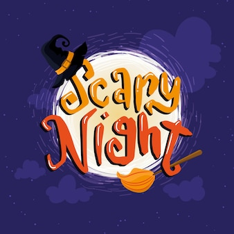 Colorful scary night lettering
