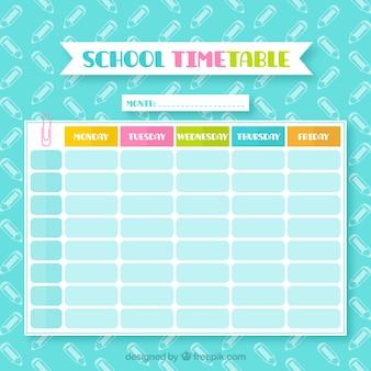 Красочный школьный календарь