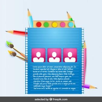 Modello di scuola colorata