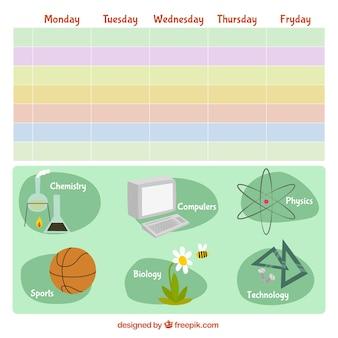 Красочные школьное расписание