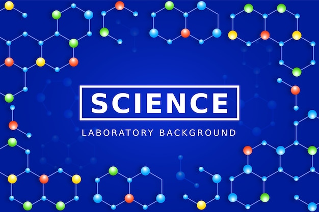 Colorful science background with molecules
