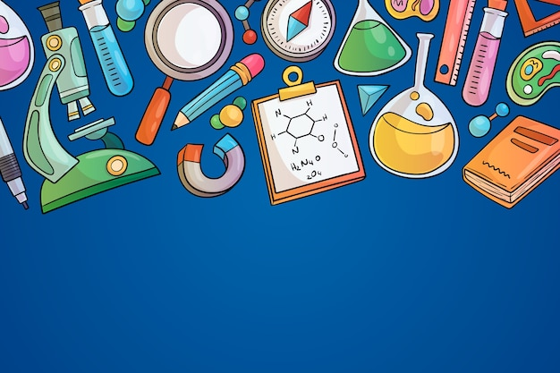 Colorful science education background theme