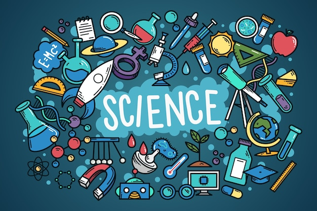 Colorful science education background