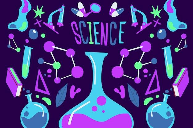 Красочный фон науки образования