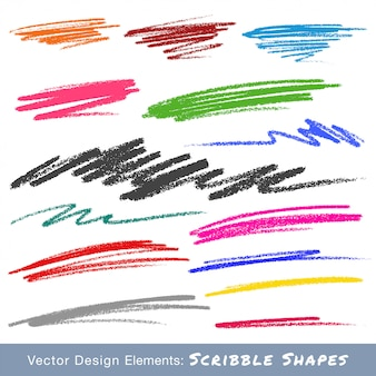Colorful scribble smears. hand drawn in pencil. vector