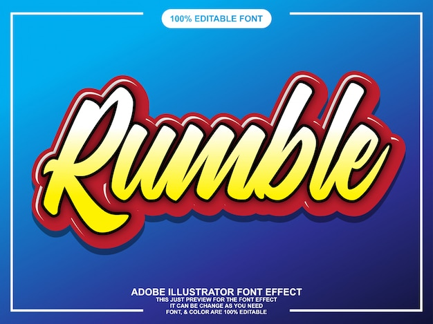 Colorful script editable typography font effect