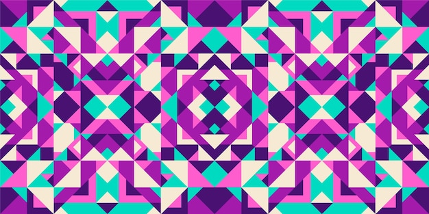Colorful seamless geometric pattern design