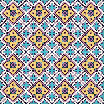 エスニックスタイルのカラフルなシームレスパターンの背景