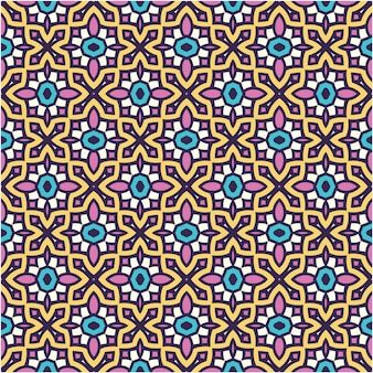 Colorful seamless pattern background with ethnic style