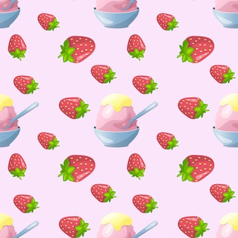 Colorful seamless pattern ice cream background