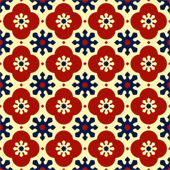 Colorful seamless pattern with flat design.