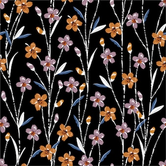 Красочный фон с луговыми цветами