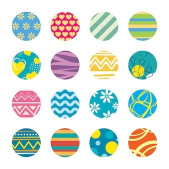 円で設定されたカラフルなシームレスパターン