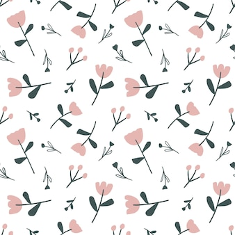 Colorful seamless vector pattern with rose flower on the background