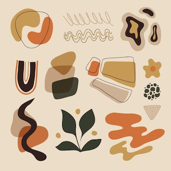 Colorful set of abstract shapes