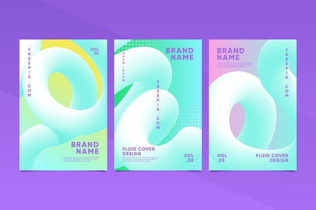 Colorful set of creative abstract covers