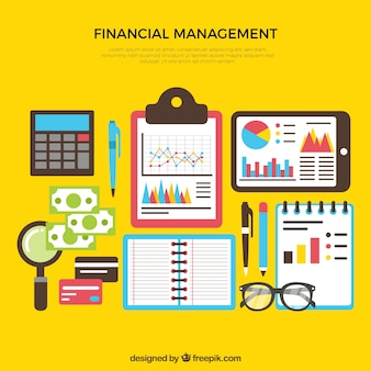 Colorful set of finance elements