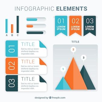 Colorful set of infographic elemens