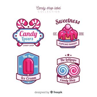 Colorful set of modern badges