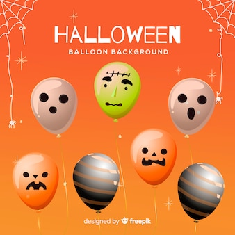 Colorful set of halloween balloons