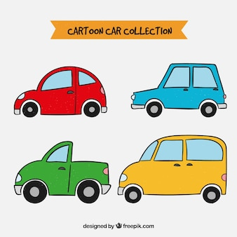 Красочный набор ручной работы автомобилей