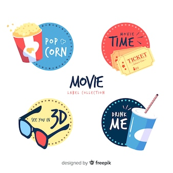Colorful set of modern badges