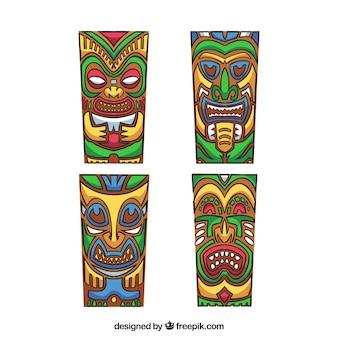 Красочный набор масок тики