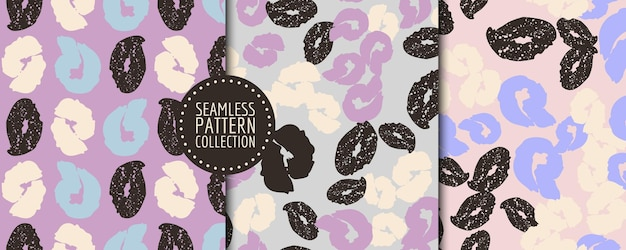 Colorful set of seamless patterns