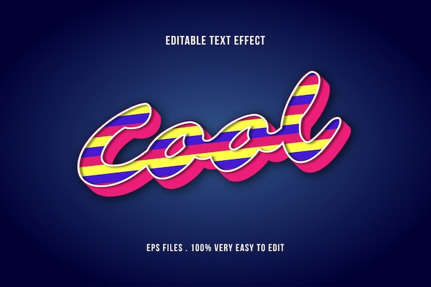 Colorful shape bold text effect