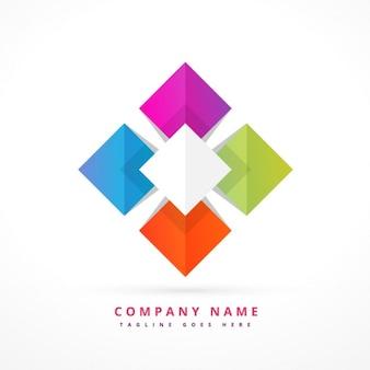 Colorful shape business symbol