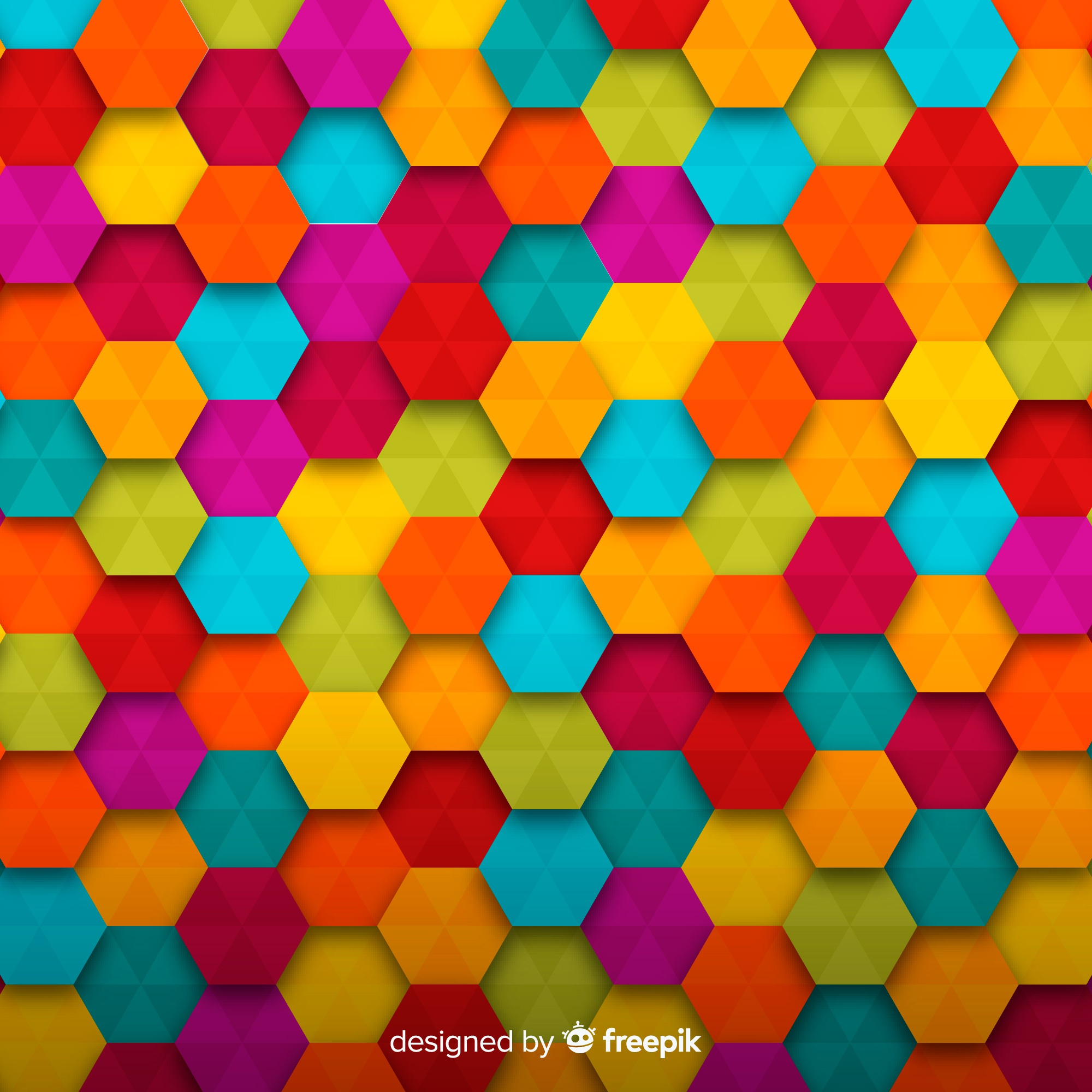 Colorful shaped background