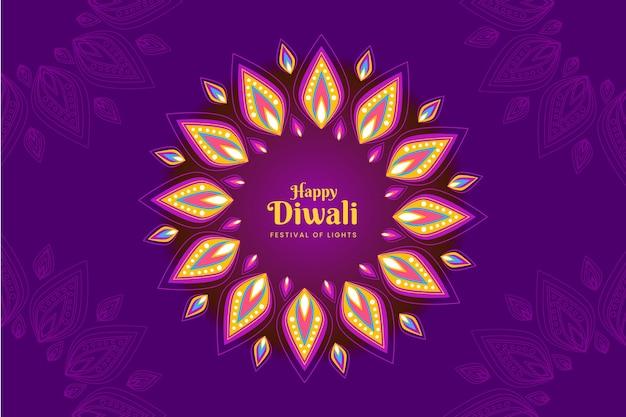 Colorful shapes diwali festival flat design