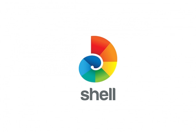 Colorful shell logo vector icon.