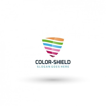 Colorful shield logo template