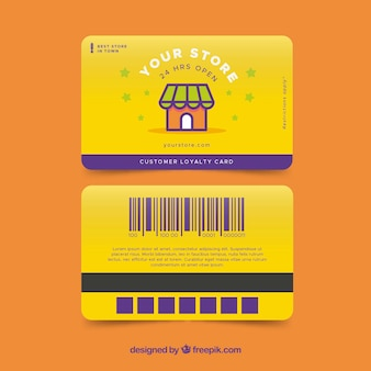 Colorful shop loyalty card template