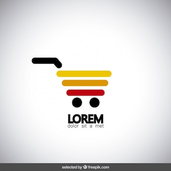 Colorful shopping cart logo