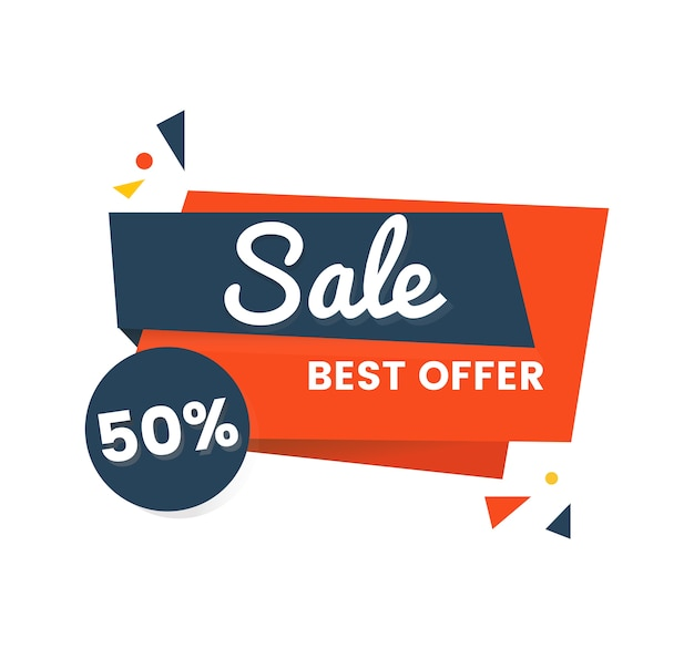Colorful shopping sale badge design