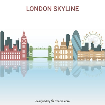 Colorful skyline of london
