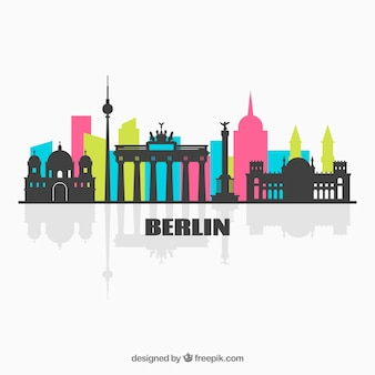 Colorful skyline of berlin