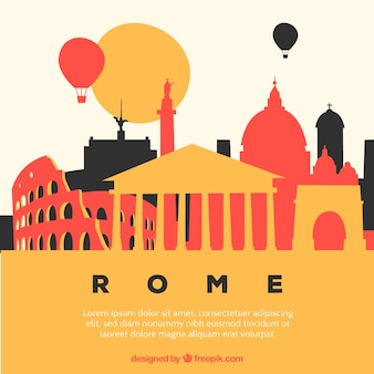 Colorful skyline of rome