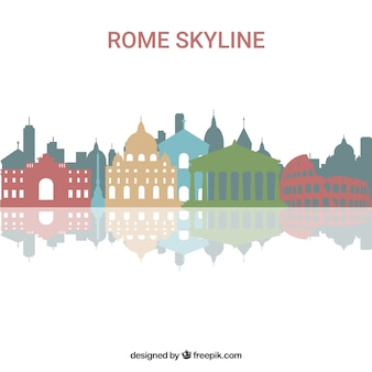 로마의 화려한 스카이 라인