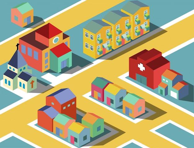 Colorful small neighborhood.