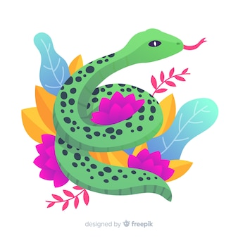 Colorful snake background