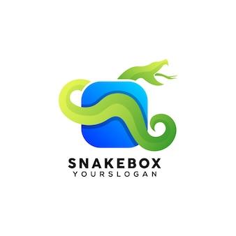 Colorful snake box logo design